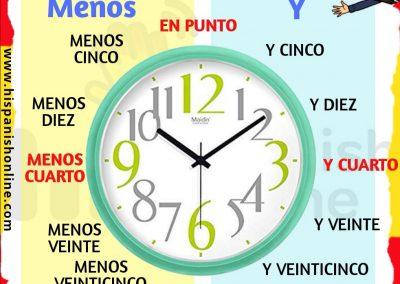 La hora en español