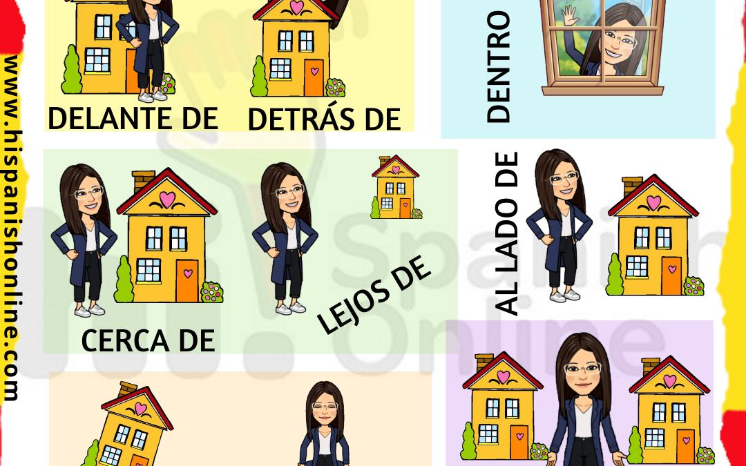 Preposiciones de lugar en español