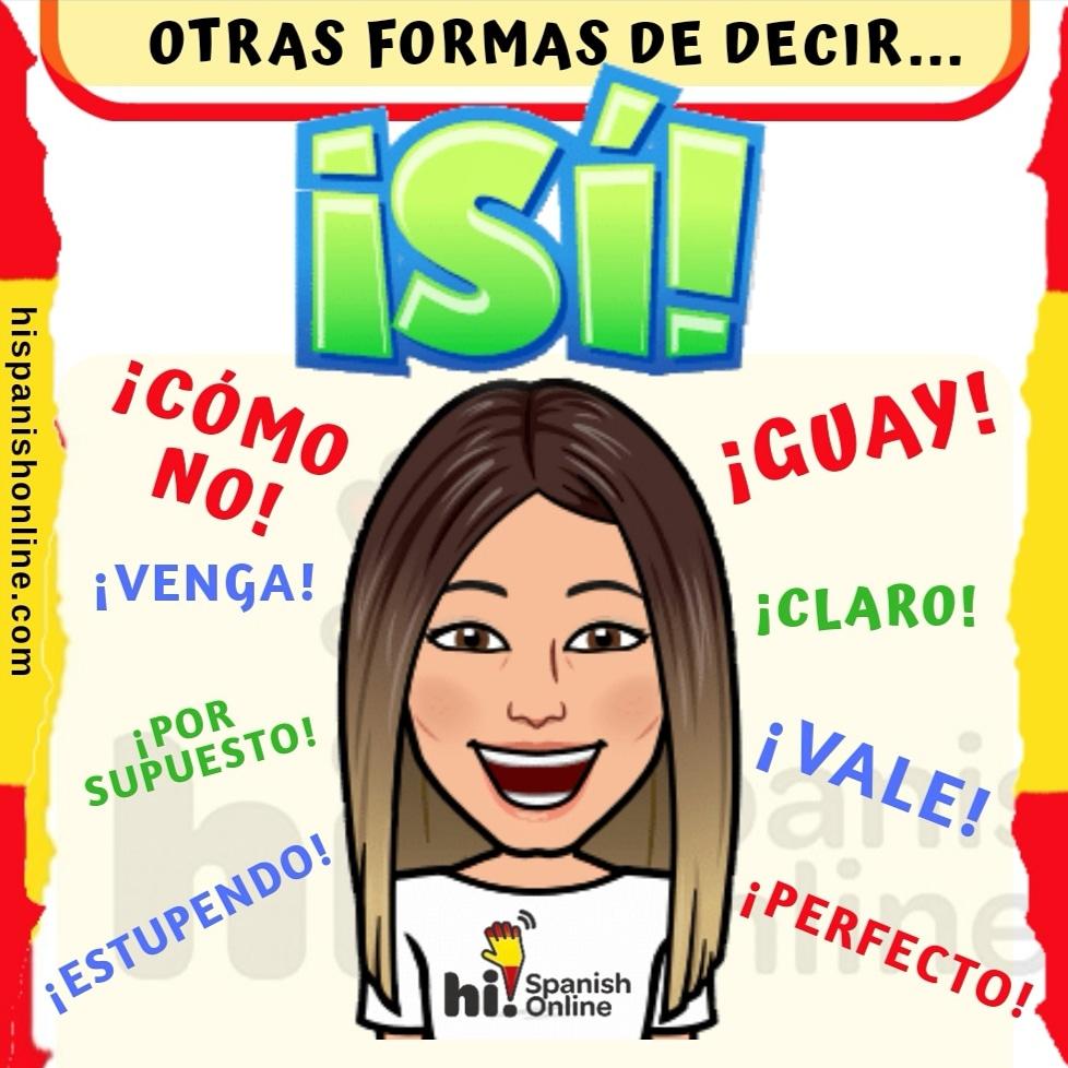 Otras formas de decir sí en español