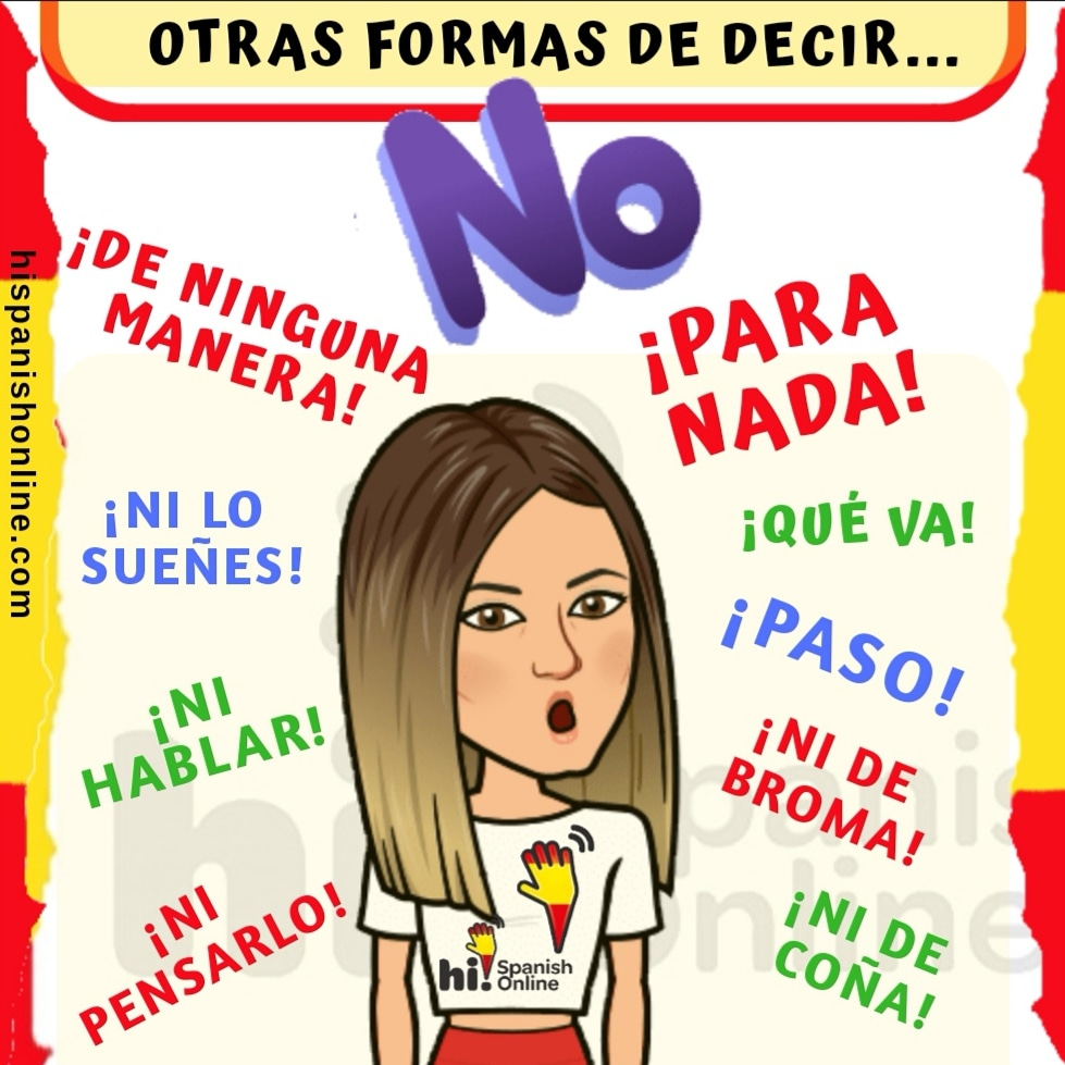 Otras formas de decir NO en español